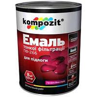 Эмаль Kompozit ПФ-266 для пола красно-коричневая 0.9 кг