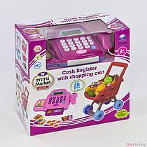 Кассовый аппарат с тележкой 66051 (18) калькулятор, звук, свет, в коробке