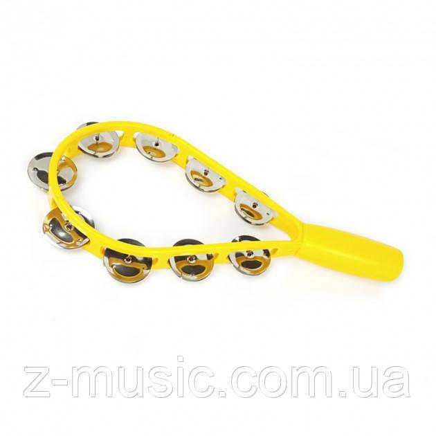 Тамбурин в форме ракетки ATB008 Yellow
