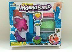 Moving Sand набор кинетического песка разного цвета с формами в комплекте для лепки
