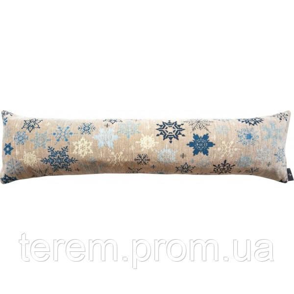 """Подушка """"синие снежинки"""""""
