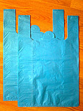 Пакеты-майка 38*57 см/35 мкм без логотипа, плотный пакет без печати, без рисунка купить прочные кульки Киев