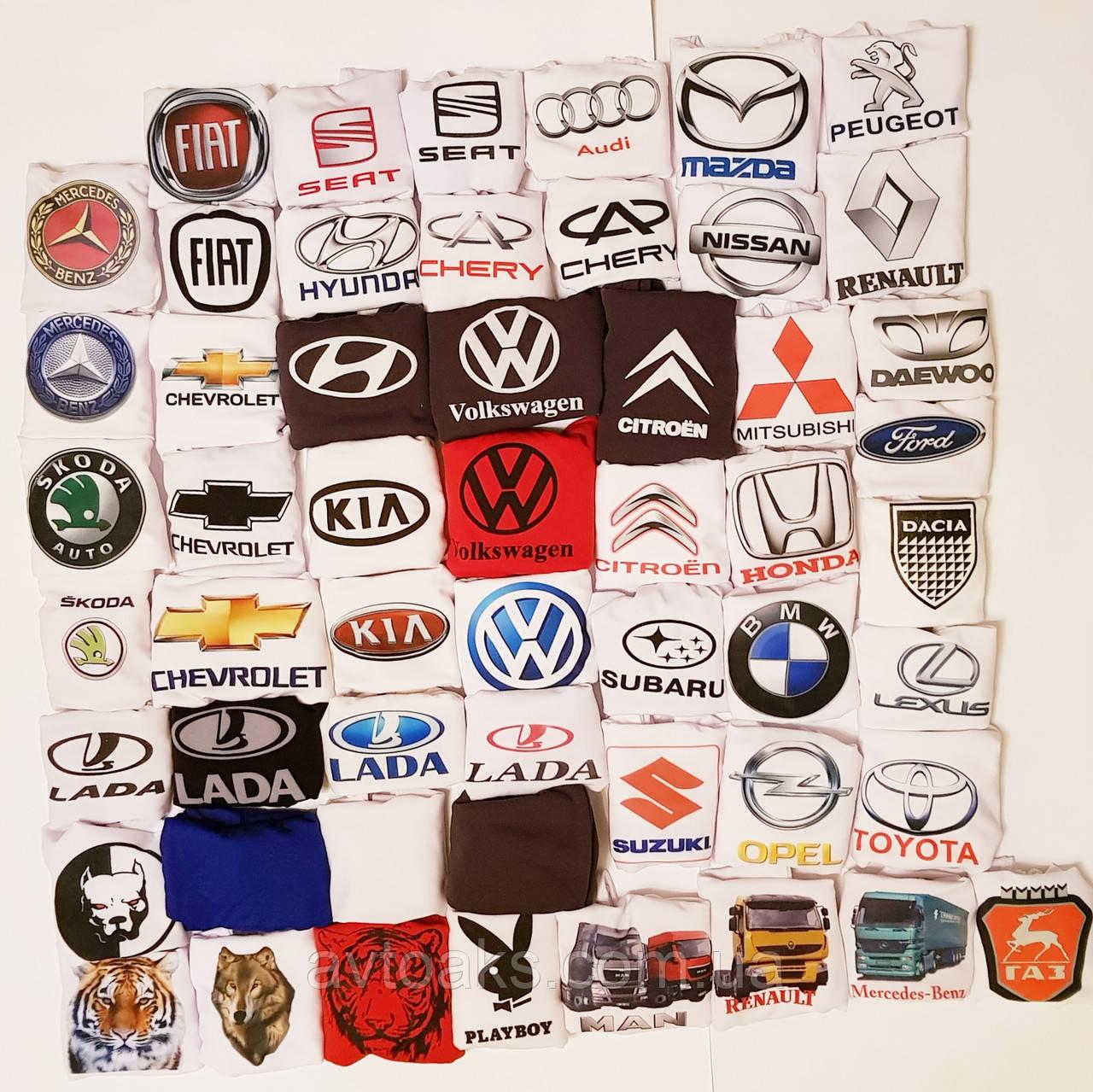 Чехол на подголовник с цветным логотипом