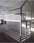 Двухэтажный  домик-кровать с бортиками, фото 3