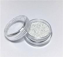 Блестки для ногтей Lidan в баночке, цвет - белый