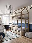 Двухэтажный  домик-кровать с бортиками, фото 5