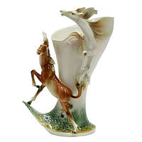 Красивая ваза для дома из фарфора Лошади