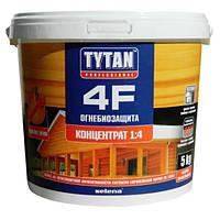 Огнебиозащита Tytan 4Ф для древесины красная 5 кг