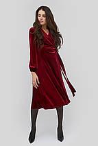 Расклешенное приталенное бархатное платье на запах  (Miris crd), фото 3