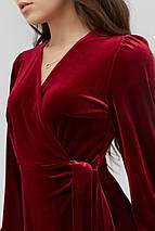 Расклешенное приталенное бархатное платье на запах  (Miris crd), фото 2