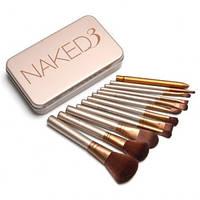 Кисти для макияжа NAKED 3 - набор из 12 штук