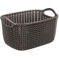 Корзина для вещей Curver Knit XS коричневая
