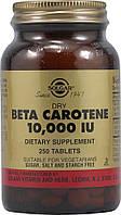 Бета каротин, Solgar (Солгар), 10000 МЕ, 250 таблеток