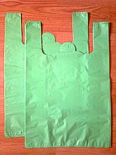 Пакет-майка 38*57 см/35 мкм без печати, плотные пакеты без логотипа, без рисунка купить прочные кульки Киев