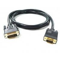 Кабель видео VGA/DVI CV-1287 (1,5 м) 2 ферит.