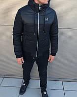 Мужская осенняя куртка Philipp Plein, (Кожа) черная