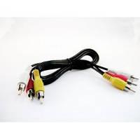 Кабель аудио (тюльпаны)  3RCA-3RCA (1.2 м) дешевый