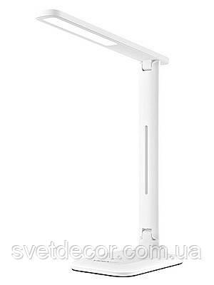 Настольная светодиодная лампа VIDEX VL-TF02W 7W LED белая (регулировка яркости и температуры света)