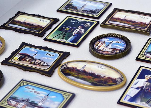 Различные виды магнитных сувениров