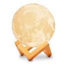 """Детский ночник 3D """"Луна"""" / светильник / лампа / 3D Moon Touch Control 18 см, светильник белый, фото 2"""