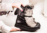 Зимние женские ботинки с натуральным мехом, фото 3