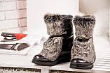 Зимние женские ботинки с натуральным мехом, фото 4