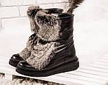 Зимние женские ботинки с натуральным мехом, фото 7