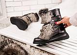 Зимние женские ботинки с натуральным мехом, фото 8