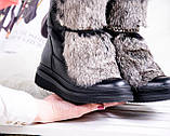 Зимние женские ботинки с натуральным мехом, фото 9