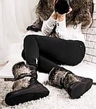 Зимние женские ботинки с натуральным мехом, фото 10