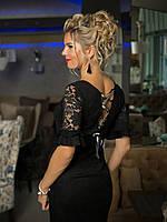Коктейльное Платье с шнуровкой на спинке, фото 1