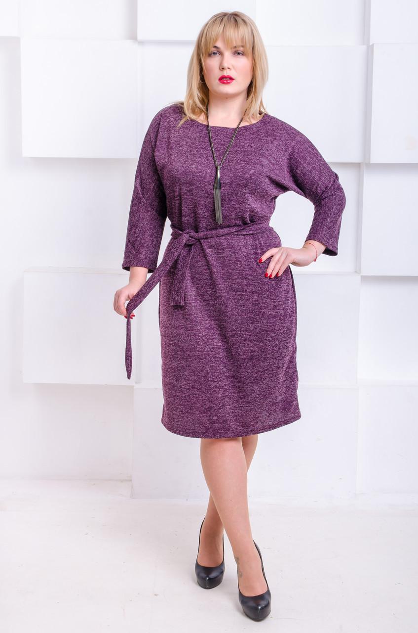 838c379cb75 Нарядное платье с люрексом размер плюс Элеон бургунди (52-60) - цена ...