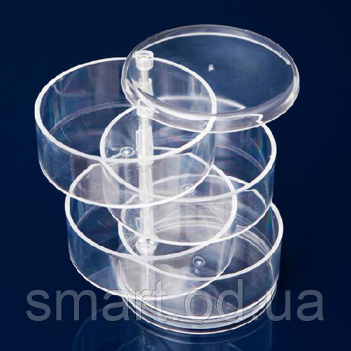 Компактный акриловый поворотный органайзер для косметики / подставка для косметики / косметик бокс / Оригинал