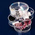 Компактный акриловый поворотный органайзер для косметики / подставка для косметики / косметик бокс / Оригинал, фото 3