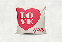 Подушка декоративная с принтом Love you