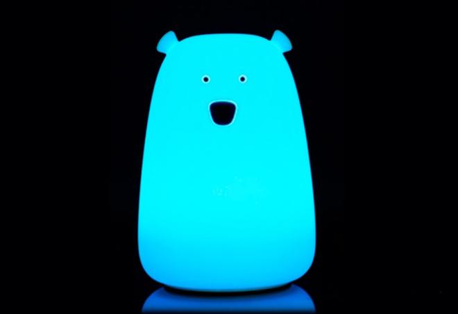 Детский ночник мишка Умка / светильник / лампа свет ночник, Голубой
