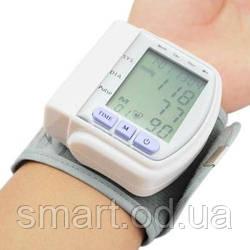 Цифровий тонометр на зап'ястя Blood Pressure Monitor CK-102S / апарат для вимірювання тиску і пульсу цифровий тонометр