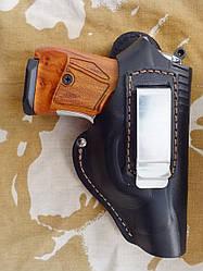 Кобура поясная кожаная (скоба) для пистолетов: Макарова и Stalker 914