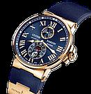 Часы в стиле Ulysse Nardin Marine / мужские часы / наручные часы / кварцевые часы, фото 2