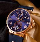 Часы в стиле Ulysse Nardin Marine / мужские часы / наручные часы / кварцевые часы, фото 3