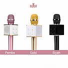 Караоке-микрофон q7  / Беспроводной Bluetooth караоке-микрофон Розовый, мини микрофон, фото 2