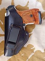 Кобура поясная кожаная (скоба) для пистолетов: Макарова и Stalker 914 для левши