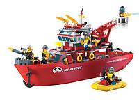 Конструктор Brick 909 Пожарный катер 361 деталей YNA