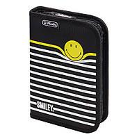 Пенал с наполнением 19 предметов Herlitz Smileyworld Stripes (50015382)