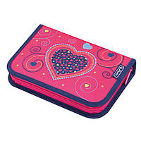 Пенал с наполнением 19 предметов Herlitz Hearts Pink (50014217H)