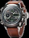 Наручные мужские армейские часы AMST Watch / спортивные наручные часы в стиле АМСТ, Коричневый, фото 2
