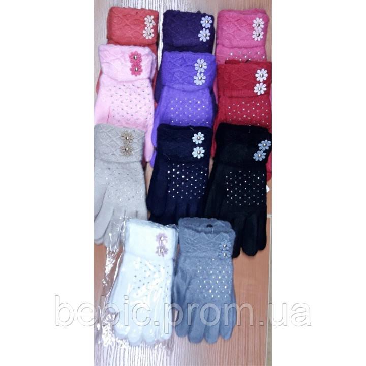 Детские перчатки для девочки 6-10 лет