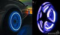 Неоновые подсветки колёс на ниппель / золотник автомобиля, мотоцикла, велосипеда Белая