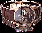 Наручные часы Emporio Armani / мужские часы / Стильные часы в стиле Эмпорио Армани Коричневый, часы, фото 2