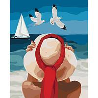 """Картина по номерам. Люди """"Морское наслаждение"""" 40*50см * KHO4502"""